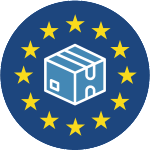 Haulage, International and Europe Delivery Icon